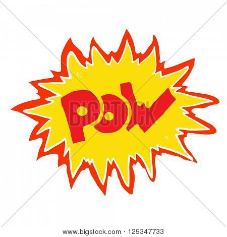 cartoon illustration comic book pow symbol