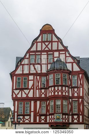 historical half-timbered house in Limburg Hesse, Germany