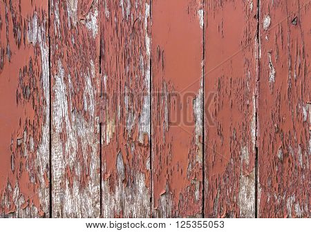 Old wooden painted and chipping paint. Grungy texture for background.