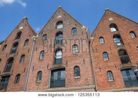 Old warehouses at the Hoge Der A in Groningen Netherlands