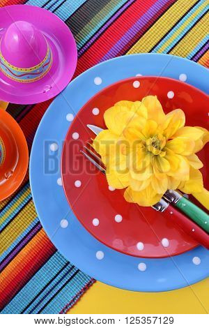 Vibrant Cinco De Mayo Table Setting.