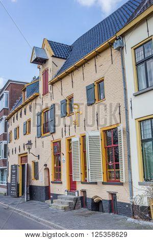 GRONINGEN, NETHERLANDS - APRIL 9, 2016: Old pub in a former warehouse in Groningen, Netherlands