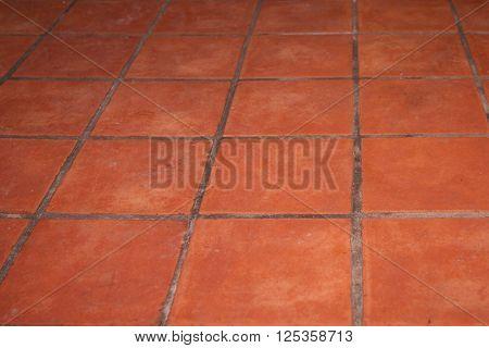 Abstract Brown Brick Tiles Floor - Tiles Texture Background