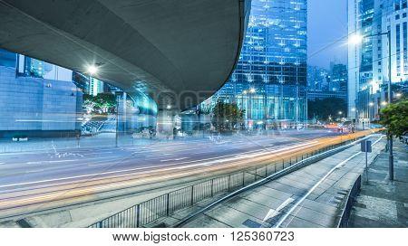 light stream under the overpass in shanghai