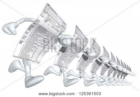 1040 Tax Man 3D Illustration