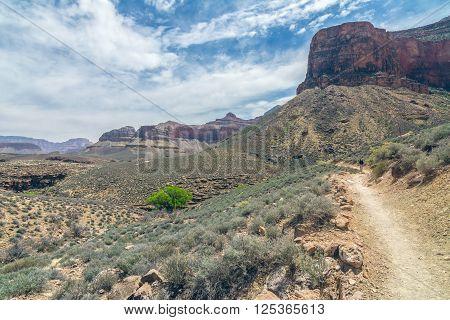 Bright Angel Trail in Grand Canyon National Park, Arizona, Usa