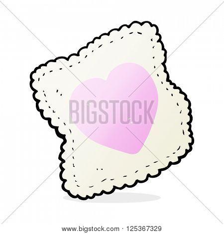 cartoon love heart handkerchief