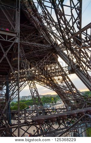 Eiffel Tower Detail, Paris