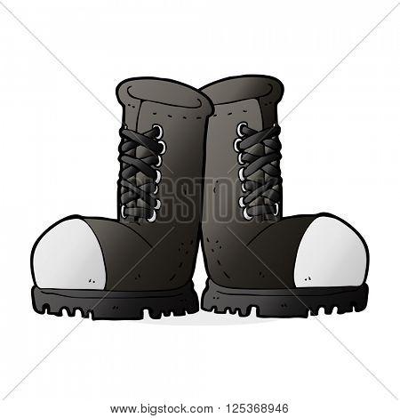 cartoon steel toe cap boots