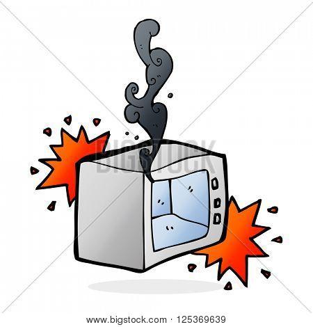 cartoon exploding microwave