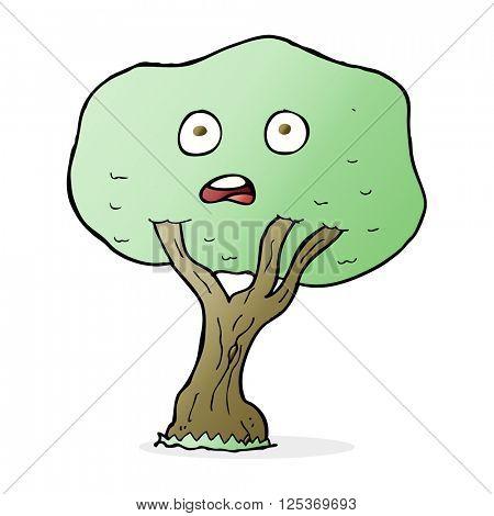 cartoon unhappy tree