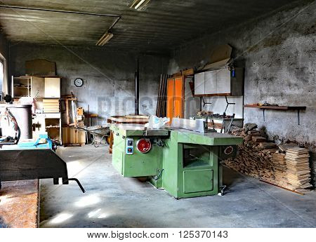 Disused Carpentry With The Large Machine