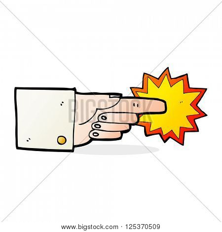 Pointing business hand cartooon