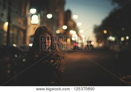 Only Woman On The Night Street