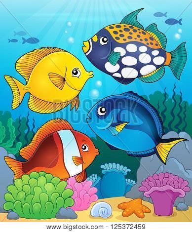 Coral reef fish theme image 4 - eps10 vector illustration.