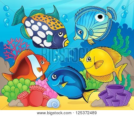 Coral reef fish theme image 8 - eps10 vector illustration.