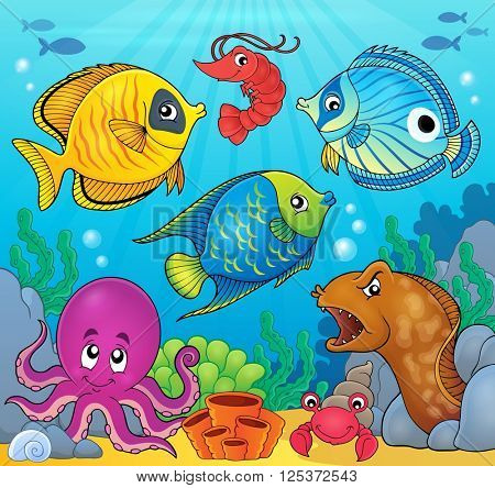 Coral fauna theme image 6 - eps10 vector illustration.