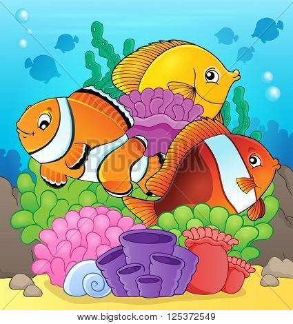 Coral reef fish theme image 7 - eps10 vector illustration.