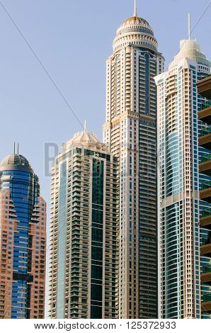 Contemporary Skyscrapers In Dubai