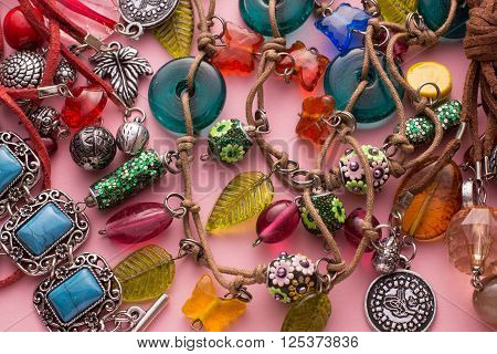 Stylish Jewellery With Colorful Stones And Beads