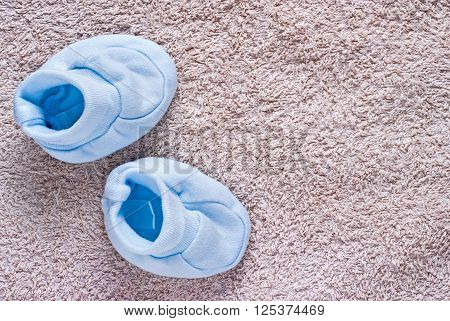 Pair Of Blue Baby Shoes