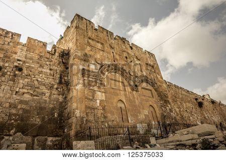 The Golden Gate the Gate of Jesus in Jerusalem, Israel