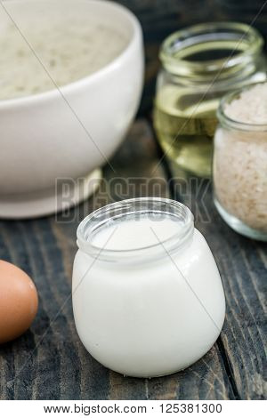 Traditional Turkish Food, Yoghurt Soup Decorated With Ingredients