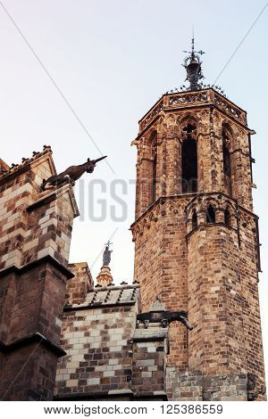 Barcelona Cathedral, Spain. Bell Tower
