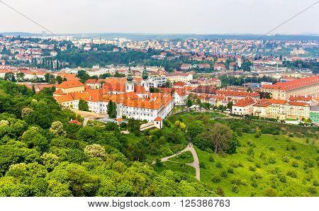 View of Strahov Monastery in Prague, Czech Republic