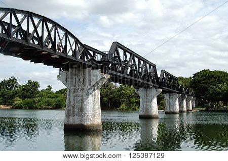 Bridge over the River in Kanchanaburi Thailand. ** Note: Soft Focus at 100%, best at smaller sizes