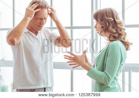 Unhappy Couple Quarreling