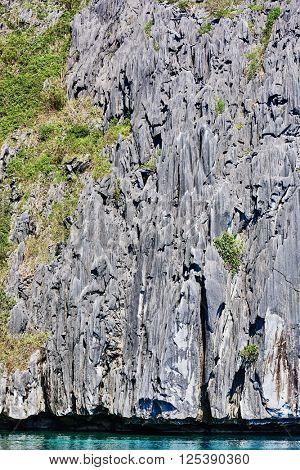 Cadlao island rocks cliff El Nido Philippines