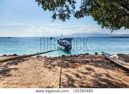 Fishing Boat On The Azure Shore