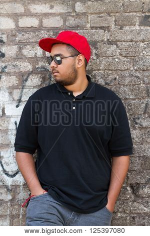 Cool Young African Boy In Red Snapback Cap