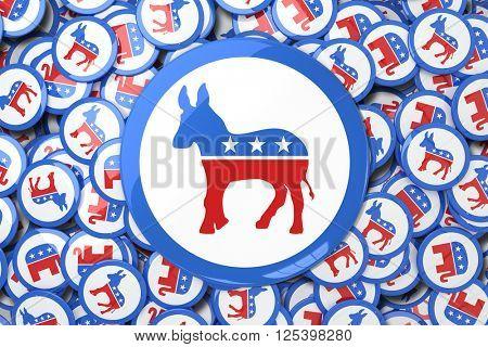 Donkey badge against animals badges