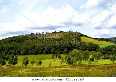 Golf course in Glossop Derbyshire England UK