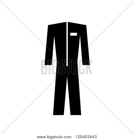 Protective special suit simple black form silhouette