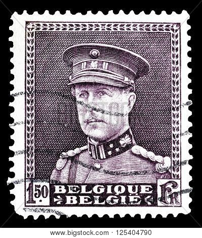 BELGIUM - CIRCA 1931 : Cancelled postage stamp printed by Belgium, that shows king Albert.