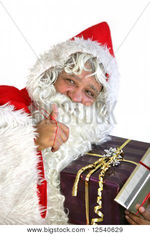 Portrait of Santa Claus on white background
