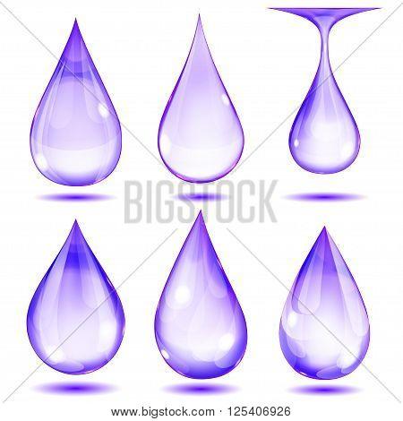 Opaque Violet Drops
