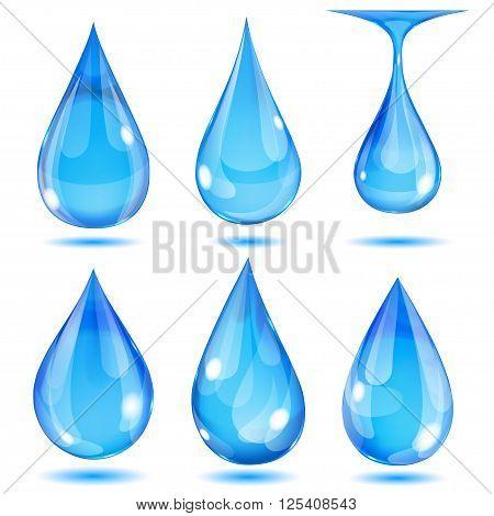 Opaque Light Blue Drops