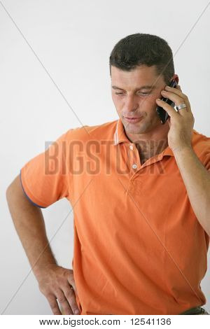 Portrait of a man phoning