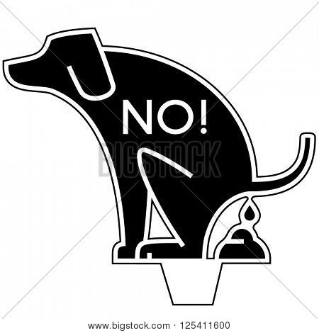 No Dog Poop Yard Sign