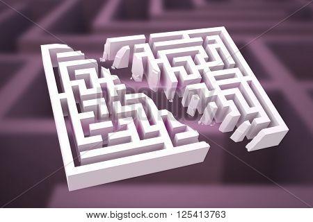 Maze against difficult maze puzzle