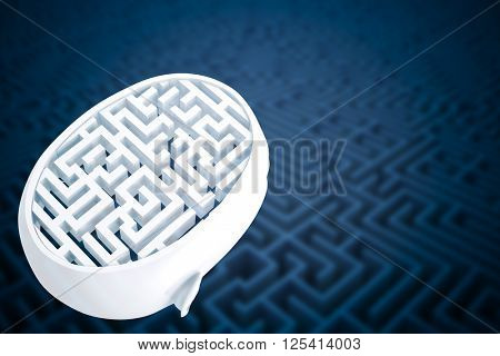 Maze as brain against difficult maze puzzle
