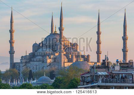 ISTANBUL, TURKEY - APRIL 27, 2015: The Blue Mosque Sultan Ahmet Camii Sultanahmet