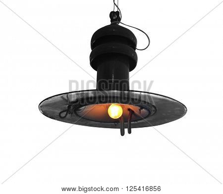 Old factory lamp