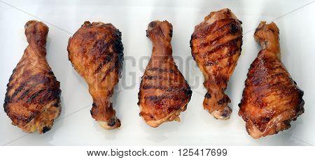 Barbecue Grilled crispy Chicken Legs; BBQ Chicken Drumstick