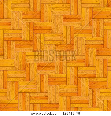 Light colored wooden parquet, realistic floor seamless pattern