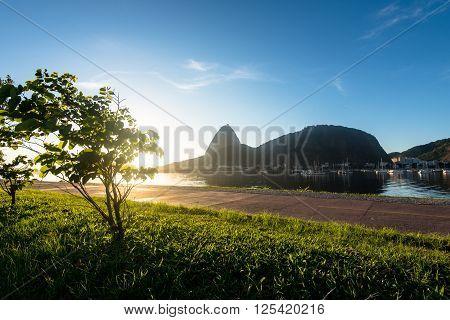 Sugarloaf Mountain in Rio de Janeiro by Sunrise